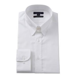 メンズ ドレスシャツ ワイシャツ タイトフィット ホワイト 白 綿100% イージーケア プレミアムコットン 120番手 タブカラー ドレスシャツ おしゃれ|ozie