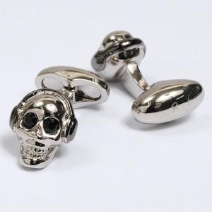 カフリンクス・カフスボタン・バベットワッサーマン・Babette Wasserman・イギリス製・Skull・スカル・ドクロ・スワロフスキー オジエ ozie|ozie