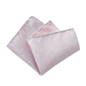 ポケットチーフ メンズ リバーシブル ドット シルク100% 日本製 国産 ピンク シルバー おしゃれ オジエ ozie|ozie