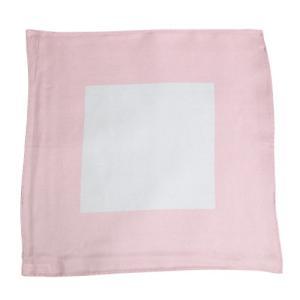 ポケットチーフ・サテン・ピンクxホワイト・無地 オジエ ozie|ozie