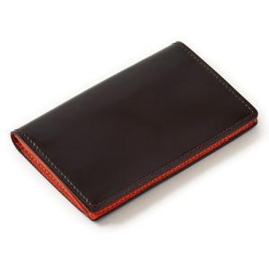 カードケース 名刺入れ・コードバン・本革・日本製・ブラウン オジエ ozie ozie