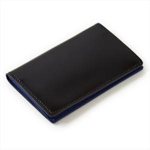 カードケース 名刺入れ・コードバン・本革・日本製・ブラック オジエ ozie ozie