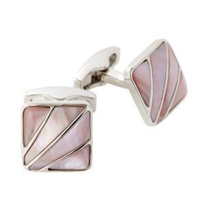 カフリンクス カフスボタン サイモンカーター  イギリス製 スクエア SIMON CATER Deco Fan Pink Mother Of Pearl オジエ ozie|ozie