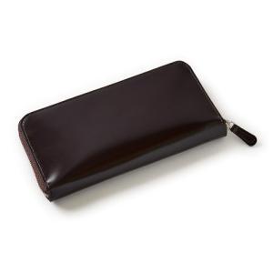 ウォレット 財布  メンズ ラウンドZIP コードバン 本革 日本製 ブラウン オジエ ozie ozie
