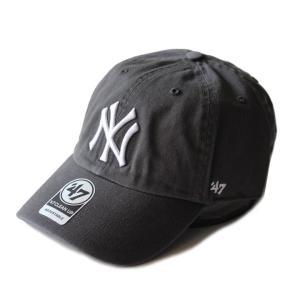 ヤンキース カーブキャップ Yankees フォーティーセブン 47Brand チャコール×ホワイト RGW17GWS 帽子|ozshop