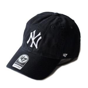 ヤンキース カーブキャップ Yankees フォーティーセブン 47Brand 黒 RGW17GWS 帽子|ozshop
