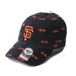 47Brand(フォーティーセブン) ジャイアンツ ドット刺繍 カーブキャップ 黒 メジャーリーグMLB ローキャップ 帽子 男女兼用|ozshop