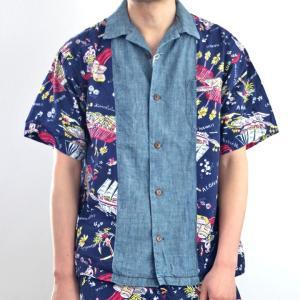 AOZORA(アオゾラブルーヘブン) 開襟 オープンシャツ アロハシャツ No.730109 ozshop