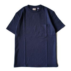 Good wear グッドウェア 無地 胸ポケ Tシャツ 紺 2W7-2500 肉厚 USAコットン 7.0oz|ozshop