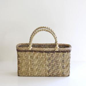 沢胡桃のかごバッグ『網代編み 表皮 』 34cm幅 手提げ籠 国産(岩手県産)|ozshop