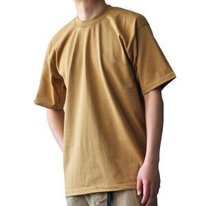 PRO CLUB プロクラブ 無地Tシャツ ヘビーウェイト6.5oz 厚手 マスタード USAコットン メンズ|ozshop