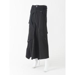 バイカラーロングスカート|ozzonjapan
