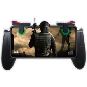 スマホコントローラー モバイルゲームパッド グリップ型 PUBG 荒野行動 ドン勝 射撃 スマホゲーム  多機種対応