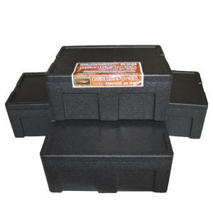 (送料無料) めだか飼育用ケース 黒発泡スチロール箱(フタ付き)×4個 p-and-f