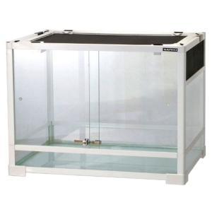 内部の支柱で支えられた安定感のある業界初の 組立て式ガラスケース。 パネルユニットを組み替えて、通気...