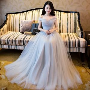ロングドレス 豪華なウエディングドレス 結婚式  セクシー二...