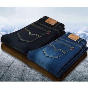 暖 チノパン メンズ スキニーパンツ ジーンズ デニムパンツ 大きいサイズ 裏起毛 暖パンツ  暖か...