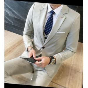 ce72a1109ddb5 紳士スーツセット メンズスーツ 3点セット スリムスーツビジネススーツ セットアップ フォーマルスーツ リクルートスーツ結婚式 長袖 忘年会司会者