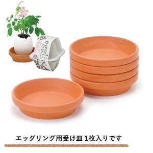 栽培キット 発芽保障 eggling eco friendly 用 受け皿 テラコッタ製 1枚 p-comfort