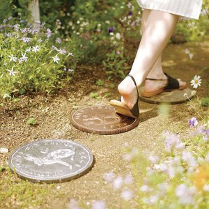 ステップストーン ピッグ 豚 アニマル pig  ガーデンプレート お庭 ガーデニング おしゃれ コイン DIY アンティーク|p-comfort