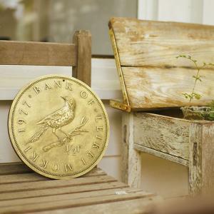 ステップストーン バード 鳥 アニマル bird  ガーデンプレート お庭 ガーデニング おしゃれ コイン DIY アンティーク|p-comfort