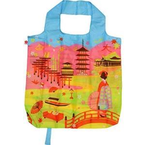 エコバッグ ブ ピンク 買い物袋 バッグ  ショッピング  ギフト ショッピングバッグ 折りたたみ 和柄 舞妓 送料無料 p-comfort