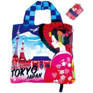 エコバッグ  買い物袋 バッグ  ショッピング  ギフト ショッピングバッグ 折りたたみ 和柄 舞妓 東京タワー 送料無料 p-comfort