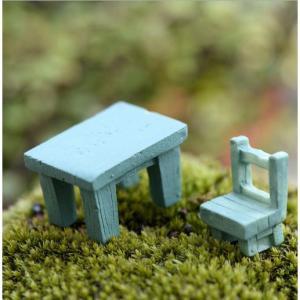 DIY テラリウム フィギュア  机 椅子 腰掛け テーブル ミニチュア 箱庭用  苔テラリウム アクアリウム スノードーム コケ 苔 ハンドメイド|p-comfort