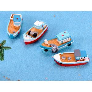 DIY テラリウム フィギュア  ドールハウス ミニチュア 箱庭用 船 シップ ボート 釣り船 苔テラリウム アクアリウム スノードーム コケ 苔 ハンドメイド|p-comfort