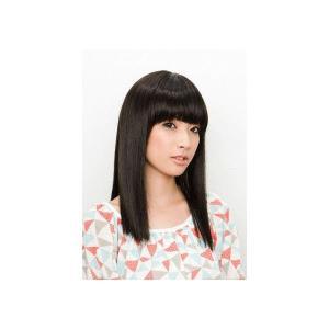 セミロングストレート (ナチュラルブラック)  フルウィッグ レディース ウィッグ 女性用 かつら(5897)|p-kaneko