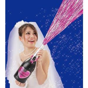 クラッカー 結婚式 お誕生日 バースデー クリスマス イベント 二次会/ ピンクスパークリングシャワー (弾2発付) (K-2502_102856)u89|p-kaneko