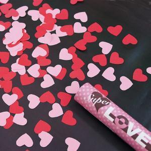 紙吹雪 ハート型 パーティークラッカー クリスマス LOVEBOMB 豪華演出 花びら 結婚式 お祝い/ スーパーラブボム(1本入) (102962)u89
