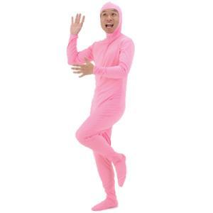 全身タイツ ピンク(Mサイズ)  [コスプレ ピンク タイツ 顔出し モジモジくん 衣装 コスチューム]【A-0030_174255】|p-kaneko
