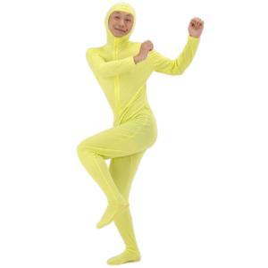 全身タイツ 黄(Lサイズ)  [コスプレ ゴールド タイツ 顔出し モジモジくん 衣装 コスチューム]【A-0085_174071】|p-kaneko