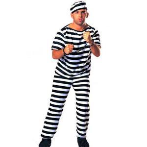 囚人 (PRISONER MAN) |囚人 衣装 大人用 ハロウィン衣装 男性用 大人 衣装 ハロウィーン 仮装 halloween| (_550291)|p-kaneko