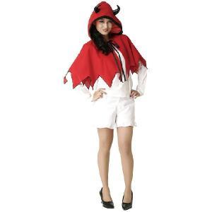 デビルフードケープ(大人男女兼用)衣装 ハロウィンコスプレ仮装(826637)|p-kaneko