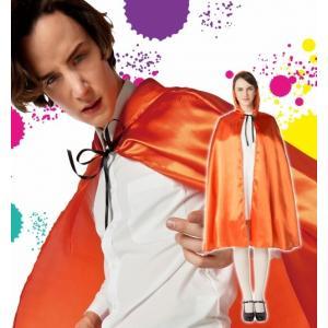 オレンジマント   /カラフル マント ヴァンパイア ドラキュラ ホラー ハロウィン 仮装 衣装 (872238) p-kaneko