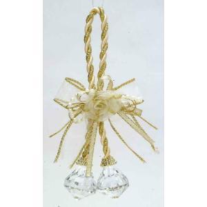 ミニローズグラスボール ゴールド    クリスマスグッズ デコレーション インテリアグッズ 飾り (14300) p-kaneko