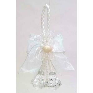 ミニローズグラスボール ホワイト    クリスマスグッズ デコレーション インテリアグッズ 飾り (14303) p-kaneko