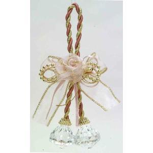 ミニローズグラスボール ピンク    クリスマスグッズ デコレーション インテリアグッズ 飾り (14302) p-kaneko