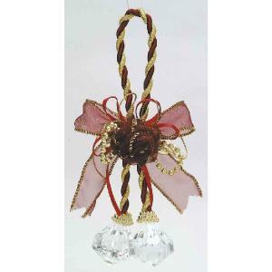 ミニローズグラスボール レッド    クリスマスグッズ デコレーション インテリアグッズ 飾り (14301) p-kaneko