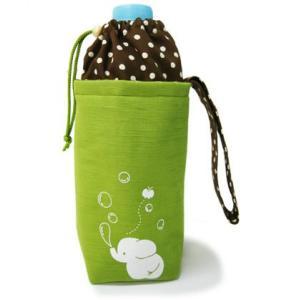 ペットボトルケース ぞう(レタスグリーン)|お弁当グッズ 弁当 ランチグッズ| (B-1020_62163-03)|p-kaneko