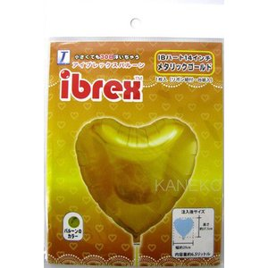 IBREX ハート14インチ メタリックゴールド |ギフト バルーン バースデー 誕生日 記念日 アニバーサリー プレゼント| (B-1760_037233)|p-kaneko