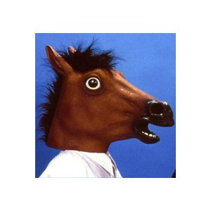 アニマルマスク3 アラブ馬ラバーマスク 仮装マスク かぶりもの 変装 パーティーグッズ (C-0016_515143)|p-kaneko