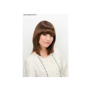 ストレートバングス+サイド&バック ミルキーブラウン   レディース ウィッグ 女性用かつら エクステ ポイントウィッグ(5533)|p-kaneko
