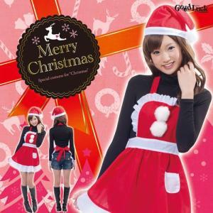 /サンタ 衣装  フリルクリスマスエプロン  /レディース サンタ コスプレ クリスマス 衣装 (827566) p-kaneko