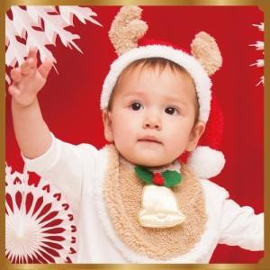 トナカイスタイセット  /トナカイ コスプレ スタイ よだれかけ トナカイ コスチューム 赤ちゃん用 クリスマス 衣装 コスチューム 仮装 baby (874386) p-kaneko