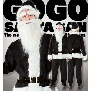 NEW GOGOサンタさん(ブラック)  /サンタ コスプレ カラフル カラーサンタ サンタクロース コスチューム クリスマス 衣装 (873617)|p-kaneko