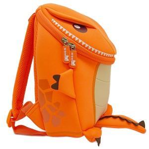 NOHOO ノーフー 子供用 リュック SMサイズ 恐竜 オレンジ ウェットスーツ 素材 キッズ かわいい 可愛い プレゼント ギフト|p-market|02
