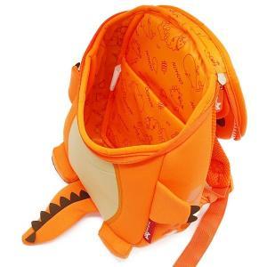 NOHOO ノーフー 子供用 リュック SMサイズ 恐竜 オレンジ ウェットスーツ 素材 キッズ かわいい 可愛い プレゼント ギフト|p-market|04